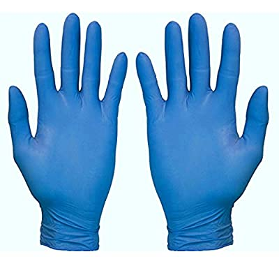 Disposable Nitrile Exam Powder Free Gloves, 100 Count