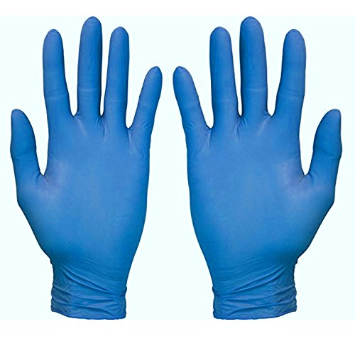 Nitrile Exam Gloves - 100 Count, High Strength, Large, Blue, Textured Fingertip, Medical Grade, Food Safe, Powder Free - Dealmed Brand (Universal Sterile)
