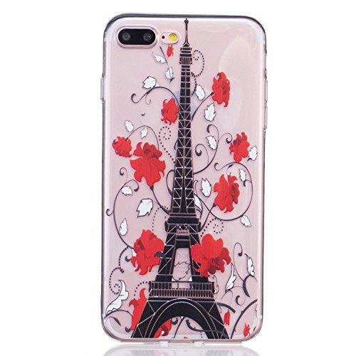 Price comparison product image Stingna 2016 NEW Cute Fashion Dandelion and Flower Design Clear Slim Fit TPU Gel Flexible Silicone Soft Case Cover Protective for Apple iPhone 7 Plus (12)