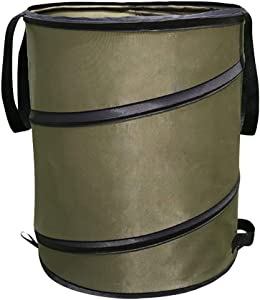 Gardening Bag, 10 Gallon Outdoor Home Waste Gardening Bag Collapsible Container Leaf Trash Can with Release Buckle Home