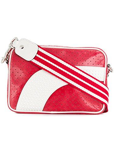 Red Valentino Borsa A Spalla Donna PQ2B0A15VET0YH Pelle Bianco/Rosso
