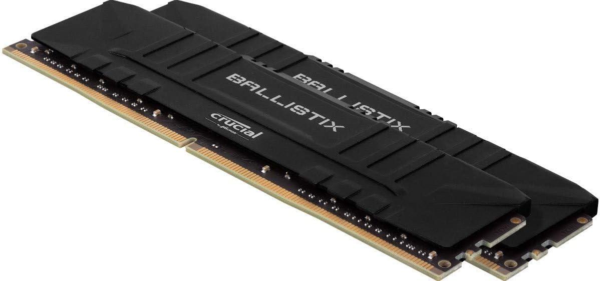16GBx2 Black CL16 BL2K16G32C16U4B Crucial Ballistix 3200 MHz DDR4 DRAM Desktop Gaming Memory Kit 32GB