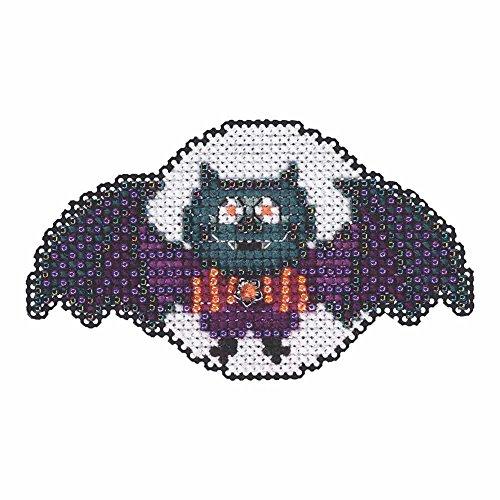 Boris the Bat Beaded Halloween Counted Cross Stitch Kit Mill Hill 2105 Autumn Harvest MH185203