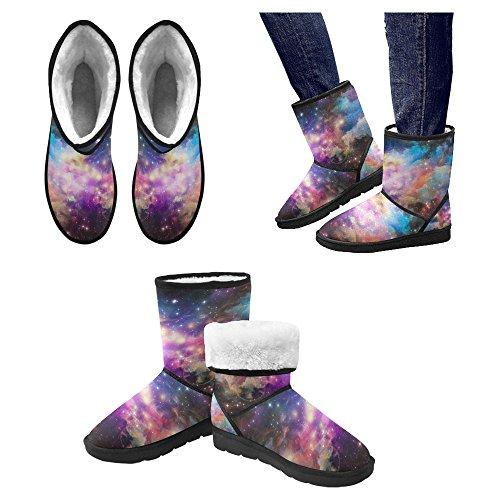 Snow Boots Da Donna Interesse Design Unico Comfort Invernale Stivali Serie Spazio Multi 1