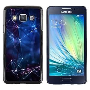 iKiki Tech / Estuche rígido - Universe Laser Blue Night Horoscope - Samsung Galaxy A3 SM-A300