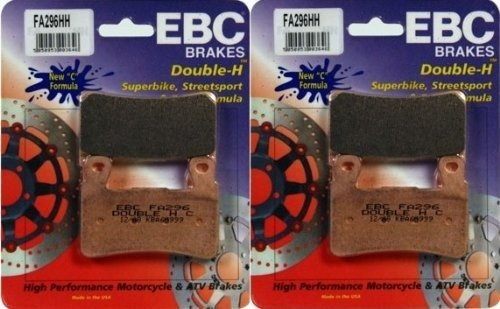 EBC Sintered Double H Front Brake Pads (2 Sets) for Both Calipers 2013 Kawasaki ZX636 Ninja ZX-6R FA296HH