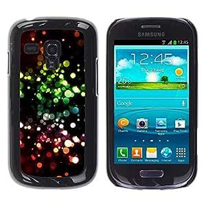 FECELL CITY // Duro Aluminio Pegatina PC Caso decorativo Funda Carcasa de Protección para Samsung Galaxy S3 MINI NOT REGULAR! I8190 I8190N // Vibrant Ring Circle Black Pink