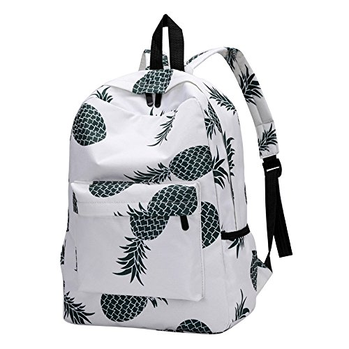 for school ladies Style Spring handbags bags Backpacks on waterproof Fresh Women Pineapple Backpack large women boys men sale girls Ůʽ shoulder Bookbags leather Print black A small Travel Female 6TqFvd