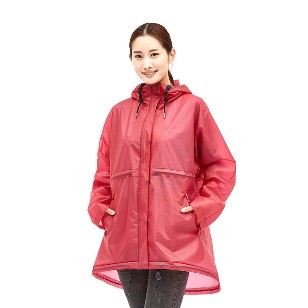 Geyao Transparente Regenmantel Weibliche Erwachsene Koreanische Mode Männlichen Outdoor Wandern Poncho Einzelnen Reise Regenmantel Regen Hosenanzug