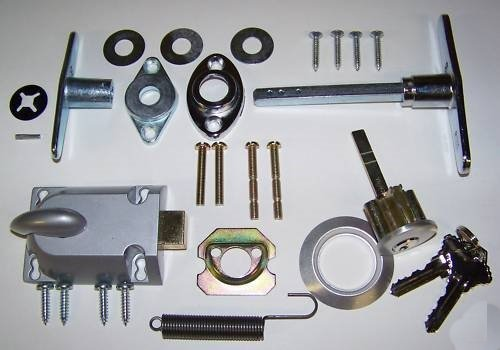 Building & Hardware Garage Door Lock Cylinder & T Handle Kit (Best Garage Door Lock)