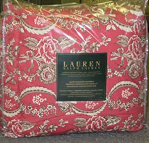 Amazon Com Ralph Lauren Ascot Middleton Red Paisley Queen