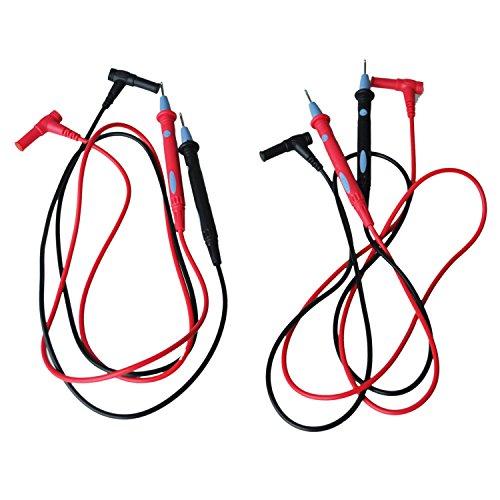 "SODIAL(R) Digital 43.3"" Long Multimeter 1000V Test Lead Cable Probe Red Black 2 Pcs"