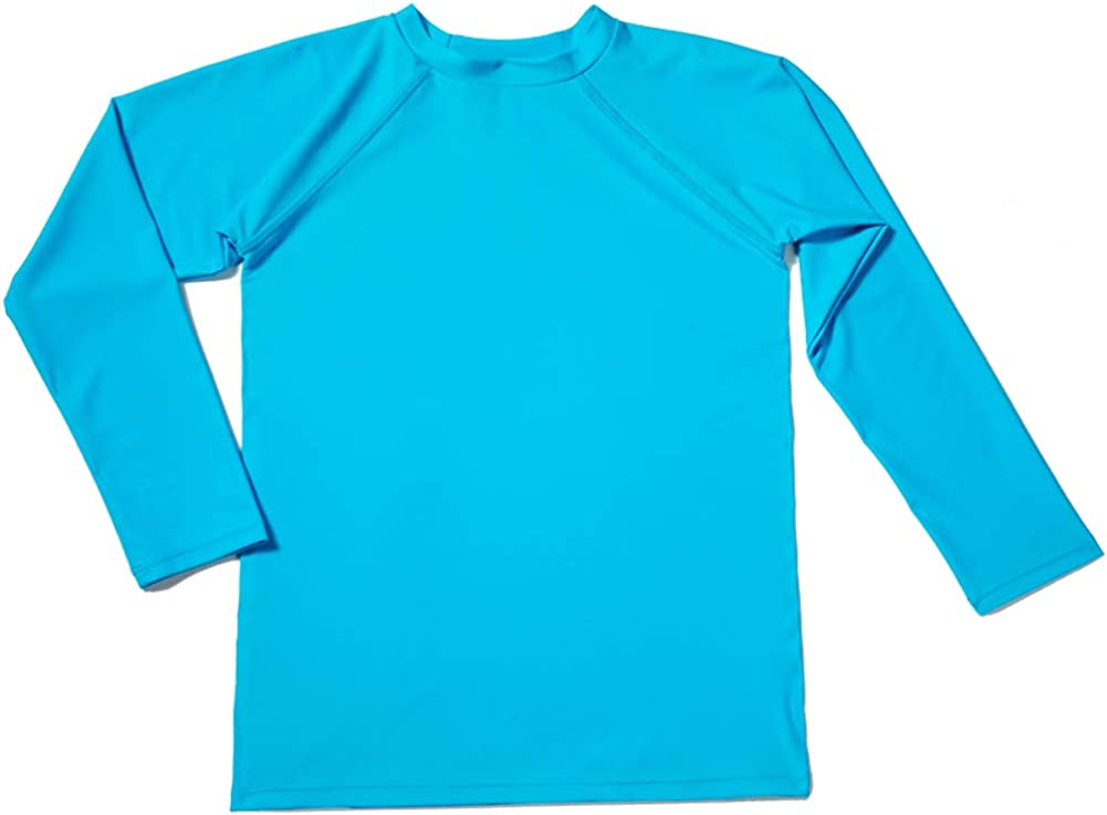Sun Protection Bestry Boys Long Sleeve Rashguard Swim Shirt Kids Toddler Swimwear Surf Tops UPF 50