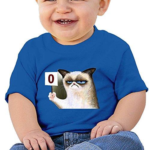 Price comparison product image Kim Lennon Grumpy Cat Happy Face Custom Girl High Quality T-shirt RoyalBlue Size 6 M