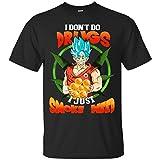 Funny Dragonball TshirtI-Don't Do Drugs I Just Smoke Weeds Dragon Ball Super Saiyan T-Shirt
