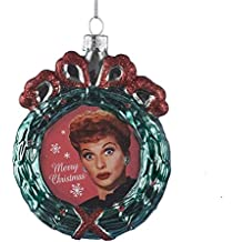 I Love Lucy Kurt Adler Wreath Glass Ornament