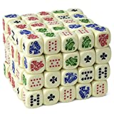 Bulk Block of 100 Poker Dice, Great for Travel by Brybelly