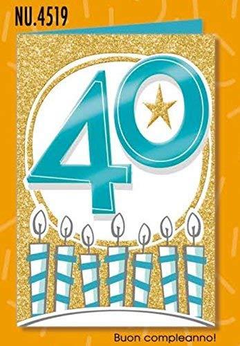Subito Disponibile Cumpleaños Tarjeta 40 Años Brillo Metal ...