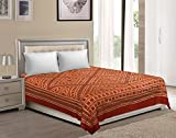 Vaibhav International Multicolor Leaf/Jalebi Cut Work Cotton Double Bedsheet