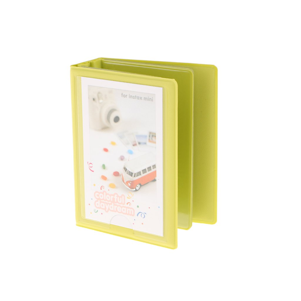 Jili Online 3 inch Wedding Memories Pocket Photo Album Holds 28 Pictures for Fujifilm Instax Green