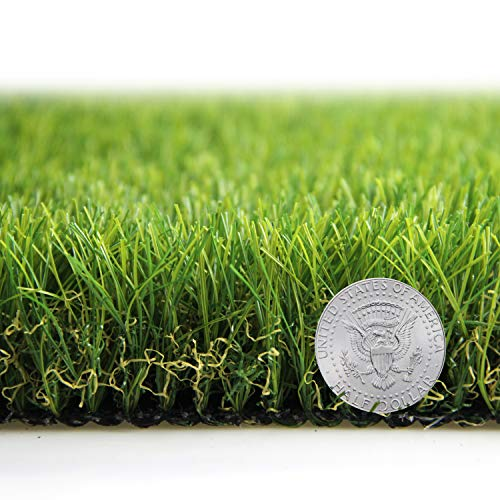 Artificial Grass Turf Lawn Fake Grass Mat Thick Synthetic Turf Rug Indoor Outdoor Carpet Garden Lawn Landscape Rubber Backed with Drainage Holes,1.77inch Pile Height (16.4ft x 6.5ft = 106.6 sqaure ft) ()