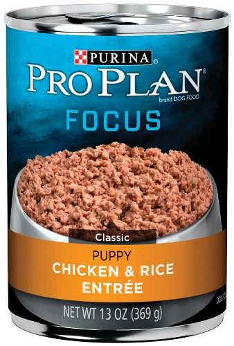 Purina Pro Plan Puppy Food, Chicken and Rice Entrée, 13-Ounce Cans (Pack of 12), My Pet Supplies
