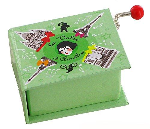 18-note hand-cranked musical box in the shape of a book - Amélie Poulain's waltz - Amélie from Montmartre (Yann Tiersen) Lutèce Créations