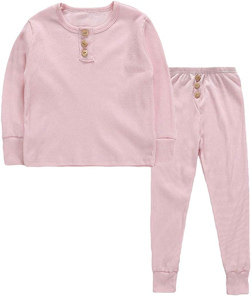 Niños Pijama - Unisex Niños Niñas Color Caramelo Pullover ...