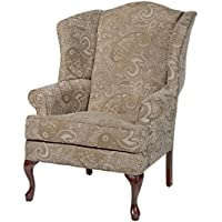 Source One A320-700011 Bernice Cream Wingback Upholstered Chair