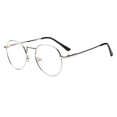 Forepin reg  Lunette de Vue Femme Homme Unisex Vintage Retro Monture  Metalique Mode Fashion Eyeglasses Lunettes 05b8c5c0acf