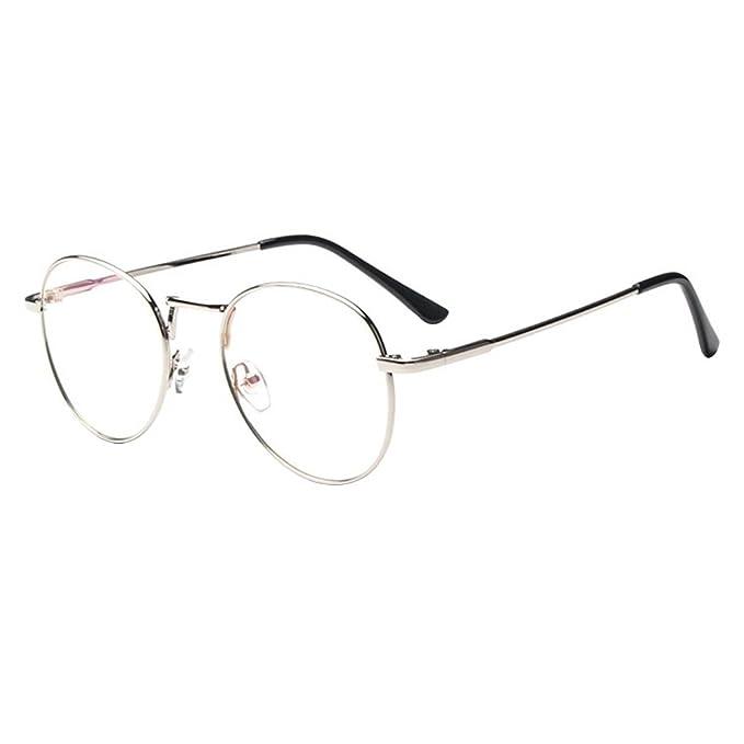 9fc25569562 Forepin® Lunette de Vue Femme Homme Unisex Vintage Retro Monture Metalique  Mode Fashion Eyeglasses Lunettes Verre Transparent Cadre Frame Lentille  Claire ...