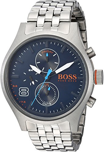 HUGO BOSS Men's 'Amsterdam' Quartz Stainless Steel Casual Watch, Color:Silver-Toned (Model: 1550023)