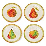 Set of 4 Sorrento Plates Fruit Handcrafted Italy 9'' diameter