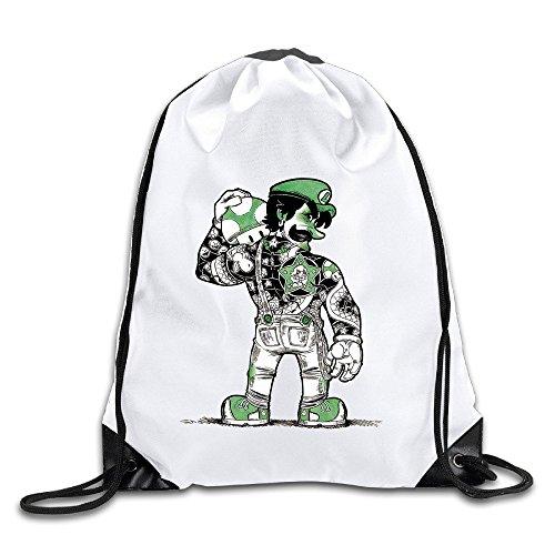 BestSeller Mario Bros Drawstring Backpacks/Bags (Cricket Travel Cartridge)