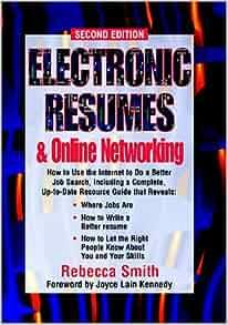 electronic resumes online marketing second edition electronic resumes online networking rebecca smith 9781564145116 amazoncom books