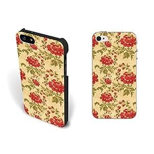 Retro Rose Floral Pattern Case For Samsung Galaxy S5 Cover Vintage Flower Design Hard Plastic Case For Samsung Galaxy S5 Cover Case Skin Protective for Women.