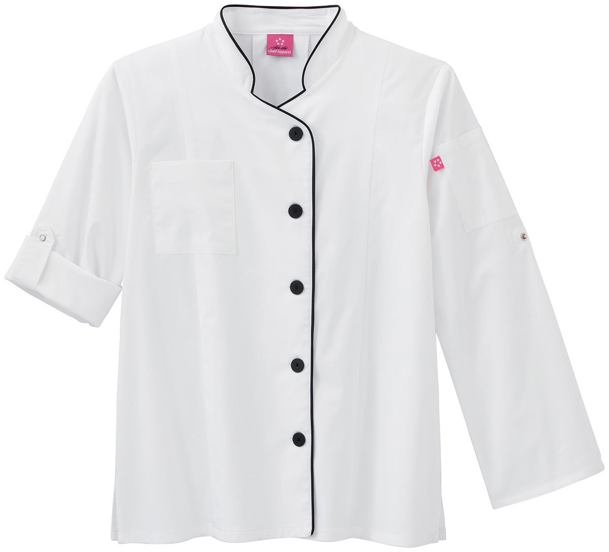 White Swan Five Star Ladies Long Sleeve Executive Stretch Chef Coat