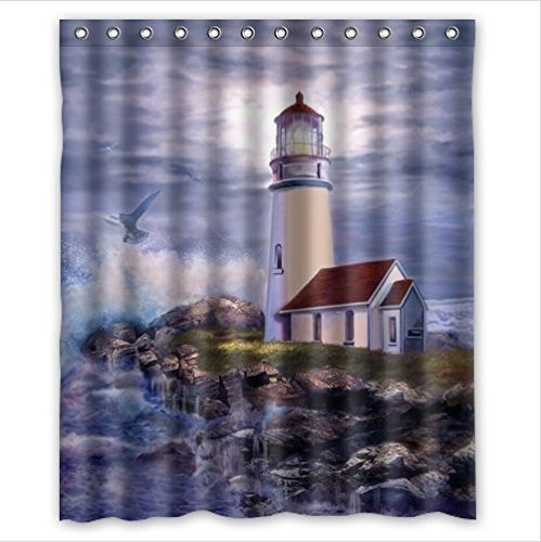 Amazon Amazing Lighthouse Art Polyester Fabric Custom Home Decor Shower Curtain 60 X 72 Clothing