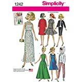 Simplicity Creative Patterns 1242 Vintage Doll Clothes for 11 1/2-Inch Doll, Size: Os One Size