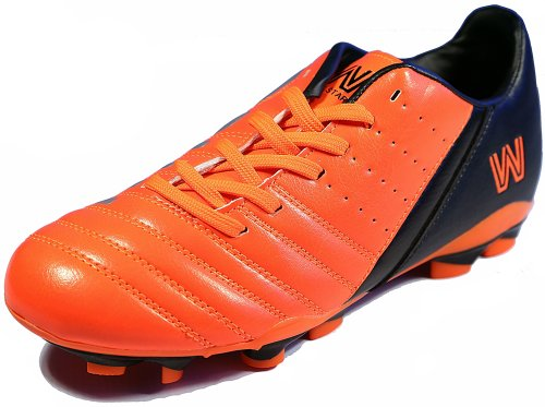 Mu striker Kid Soccer Shoes, Cleat Orange / Black (9K)