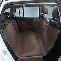 Dog Car Seat Cover, Nylon Waterproof Cloth Pet Car Mat Backseat Hammock Design Nest Dual Purpose for Pets Dog