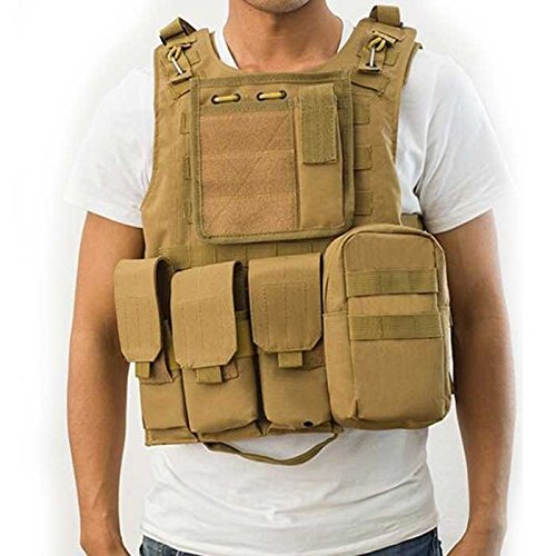 ATAIRSOFT Molle Tactical Airsoft Paintball Vest DE Tan