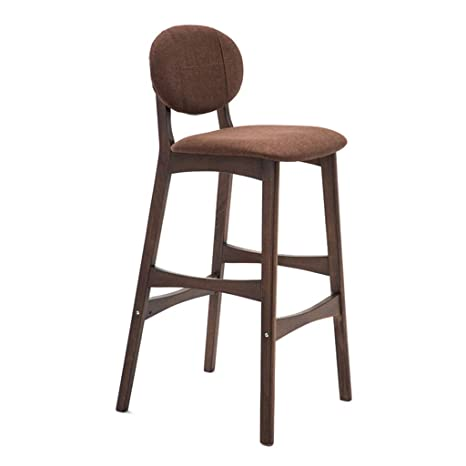 Miraculous Amazon Com Htsy Grey Fabric Bar Stools Kitchen Wooden Bar Dailytribune Chair Design For Home Dailytribuneorg