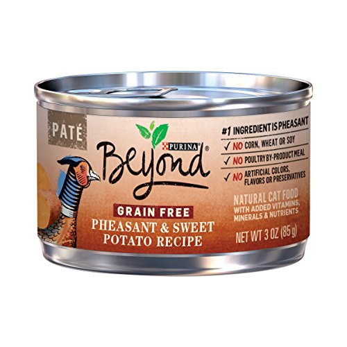 Purina Beyond Grain Free, Natural Pate Wet Cat Food; Grain Free Pheasant & Sweet Potato Recipe - 3 oz. Can -