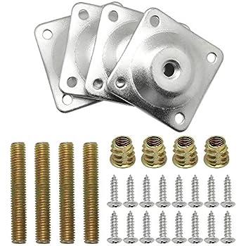 gresatek m8 5 16 hanger bolts female converters screws set of 4 for furniture legs feet. Black Bedroom Furniture Sets. Home Design Ideas