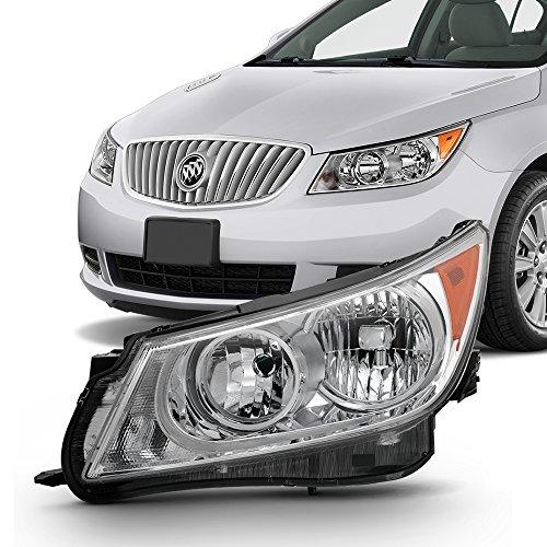 For [Left Driver Side] 2010 2011 2012 2013 Buick LaCrosse Halogen Chrome Headlight