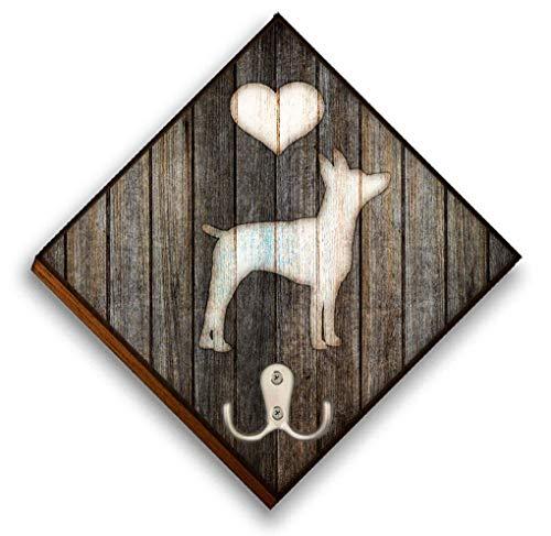 Custom Name Dog Leash Holder Wall Hook Details about  /Rat Terrier Dog