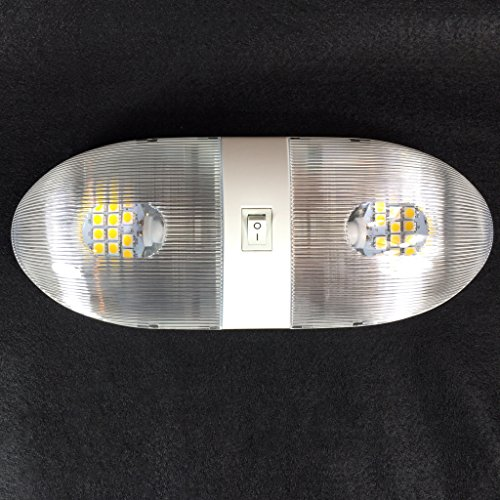 New Rv 12v 4200k Double Euro Style Pancake Led Dome Light