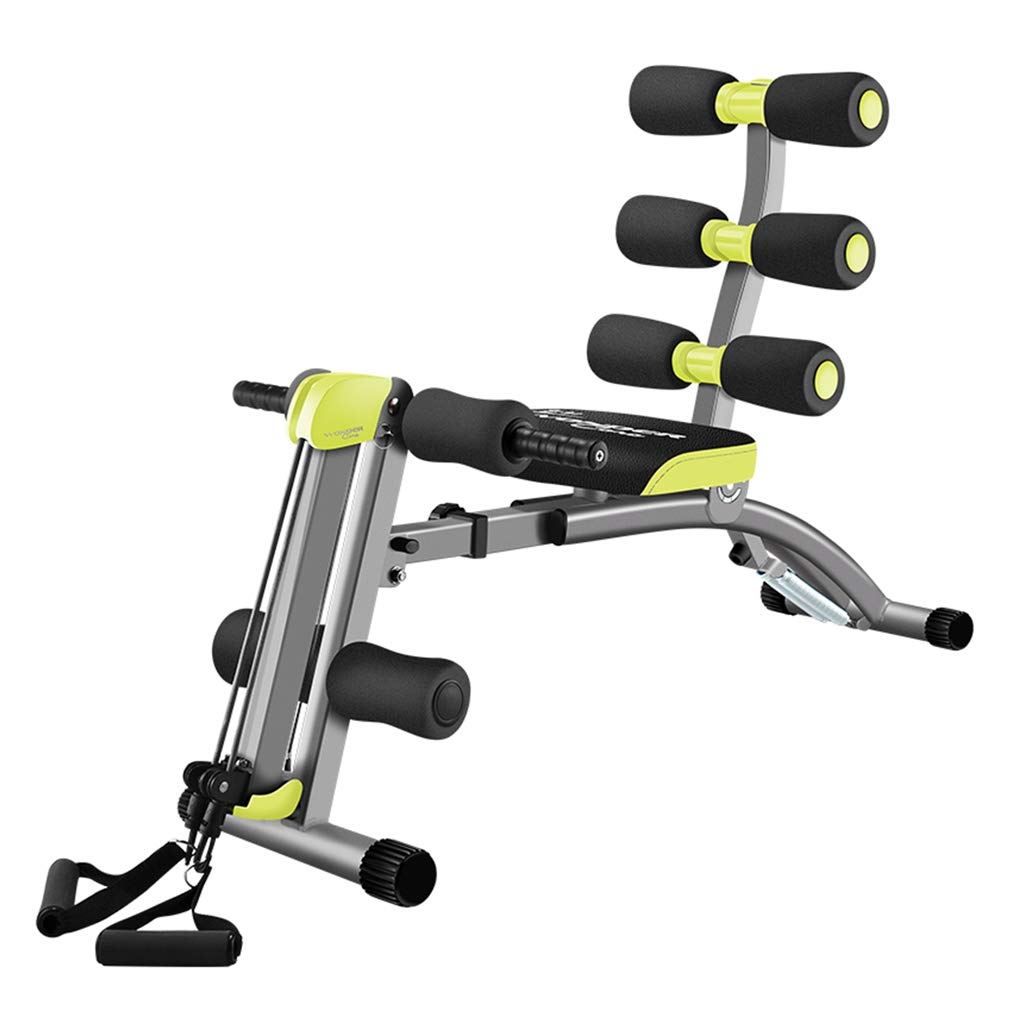 Sit-ups Fitnessgeräte Bord Haushalt Bauchgerät Multifunktionsgerät Hantelbank (Farbe : Grün, Größe : 110  33  72.5cm)