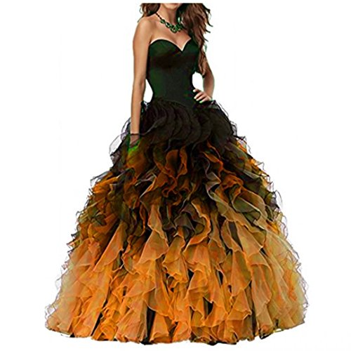Ball Prom Gown Orange Gown Long Ball Black Prom Black Dresses 2017 Quinceanera Chady Dresses Organza Lilac Ombre Puffy Dresses Sweethart qaFxSwT0